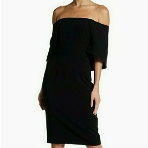 Black Halo Eloise Off the Shoulder Sheath Dress